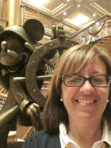Jackie's Selfie with Helmsman Mickey