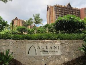 Aulani and Stone Sign
