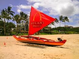 Aulani Beach Sail Boat