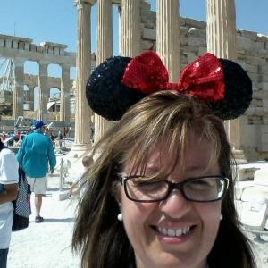Sailing the Mediterranean with Disney Cruise Line on the Disney Magic. Seen here at the Athens Acropolis.