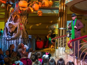Disney Cruise Line will treat guests sailing this fall to a wickedly good time as the Disney ships transform into a ghoulish wonderland during Halloween on the High Seas cruises. For this extra-spooky celebration, each ship boasts its own signature Pumpkin Tree, which magically transforms throughout the cruise with the help of a storytelling caretaker. (Matt Stroshane, photographer)
