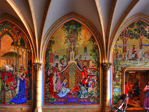 Stunning Mosaic Mural Panels in Cinderella Castle